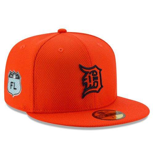 Detroit Tigers New Era 2017 Spring Training Diamond Era 59FIFTY Fitted Hat - Orange