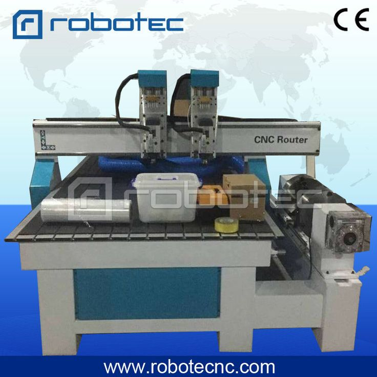 high quality! double heads 3.0kw air cooled spindle 1325 1530 3d wood cnc router, 4 axis cnc milling machine