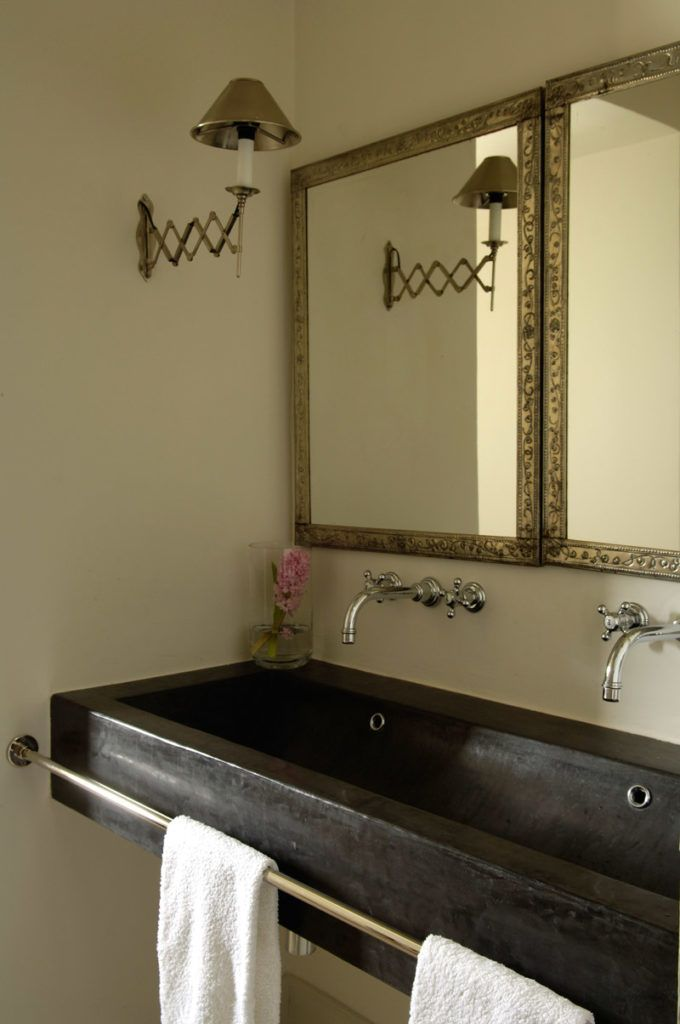 Best Bathroom Cabinetry And Sink Stands Images On Pinterest - Hammered metal bathroom sinks for bathroom decor ideas