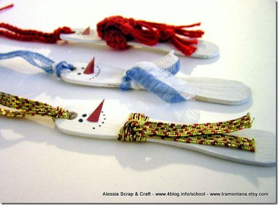 Lavoretti di Natale: pupazzi di neve eco chic craft Christmas   Alessia, scrap & craft...Alessia, scrap & craft…
