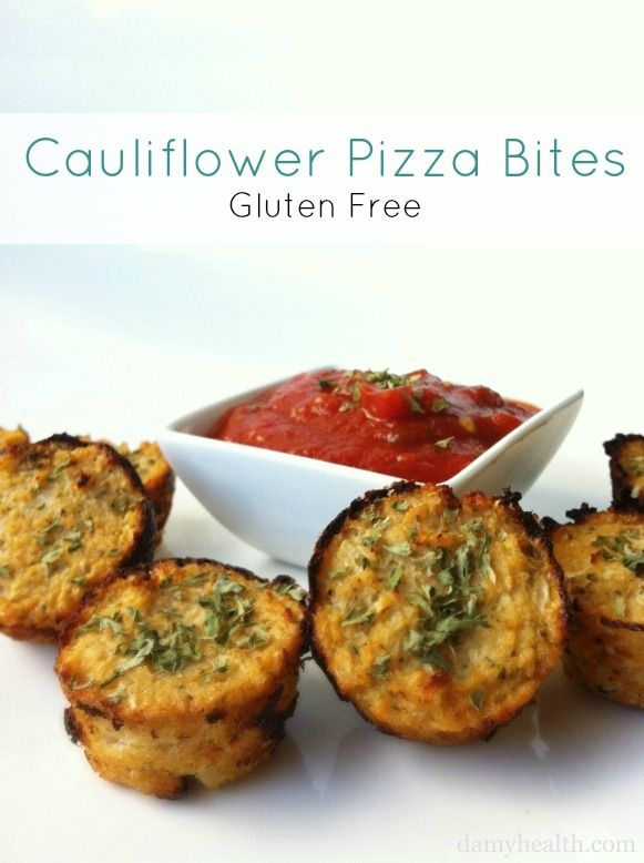Check out my famous Cauliflower Pizza Bites. This recipe is gluten-free, low-carb, high protein, high fiber and freaking the best craving solution ever!