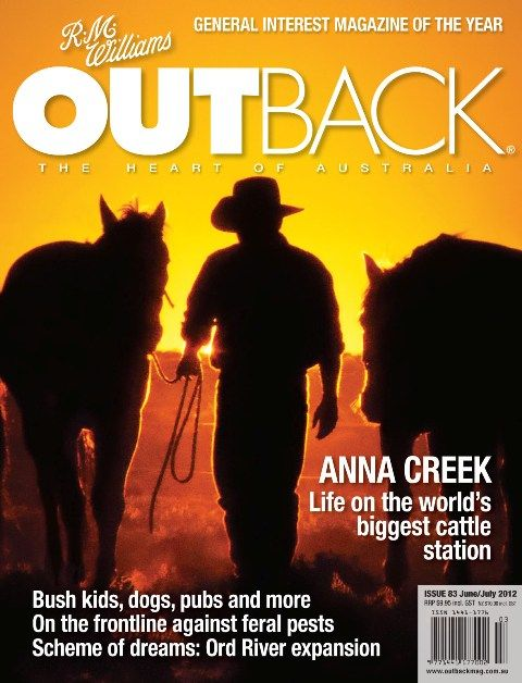 Photograph by Paula Heelan on the cover of Outback magazine
