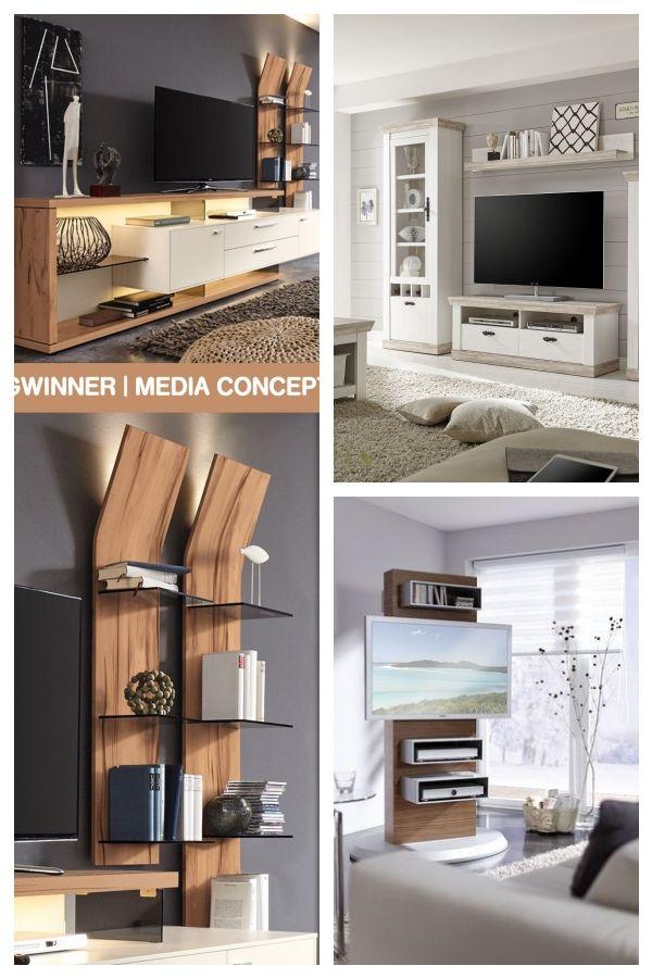 Gwinner Wall Unit Media Concept Mc906 White Wildkernbuche Furniture Letz Your Online Shop Tvunitsdesignmoder Wall Unit Modern Living Room Wall Furniture