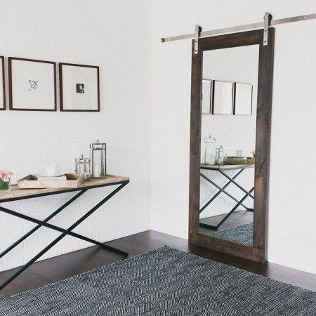 40 best images about doors on pinterest pocket doors for Mirrored barn door