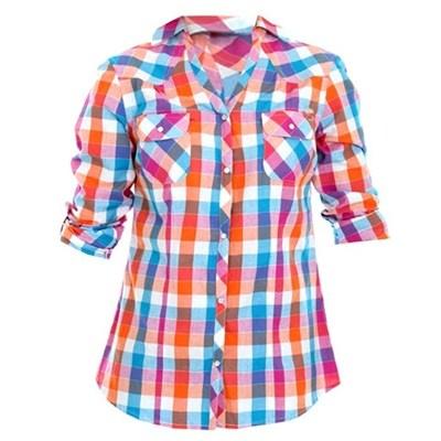 Camisa Rip Curl Girls Xadrez Labrea. R$140