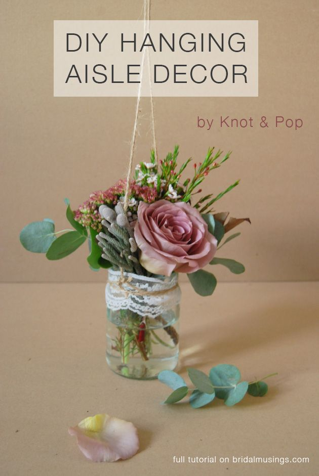 DIY Rustic Hanging Aisle Decor / Bouquet Alternative by @Gail Nielson & Pop Susie Young