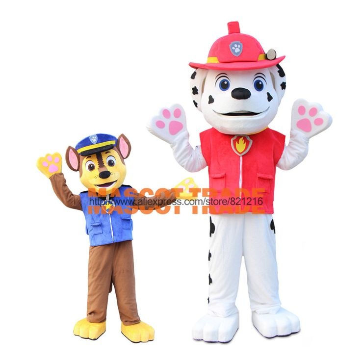 High quality 2016 New Arrival Adult Minions Patrol Dog Mascot Costume Fancy Dress Suit Cartoon Mascot Chase the mascot costume