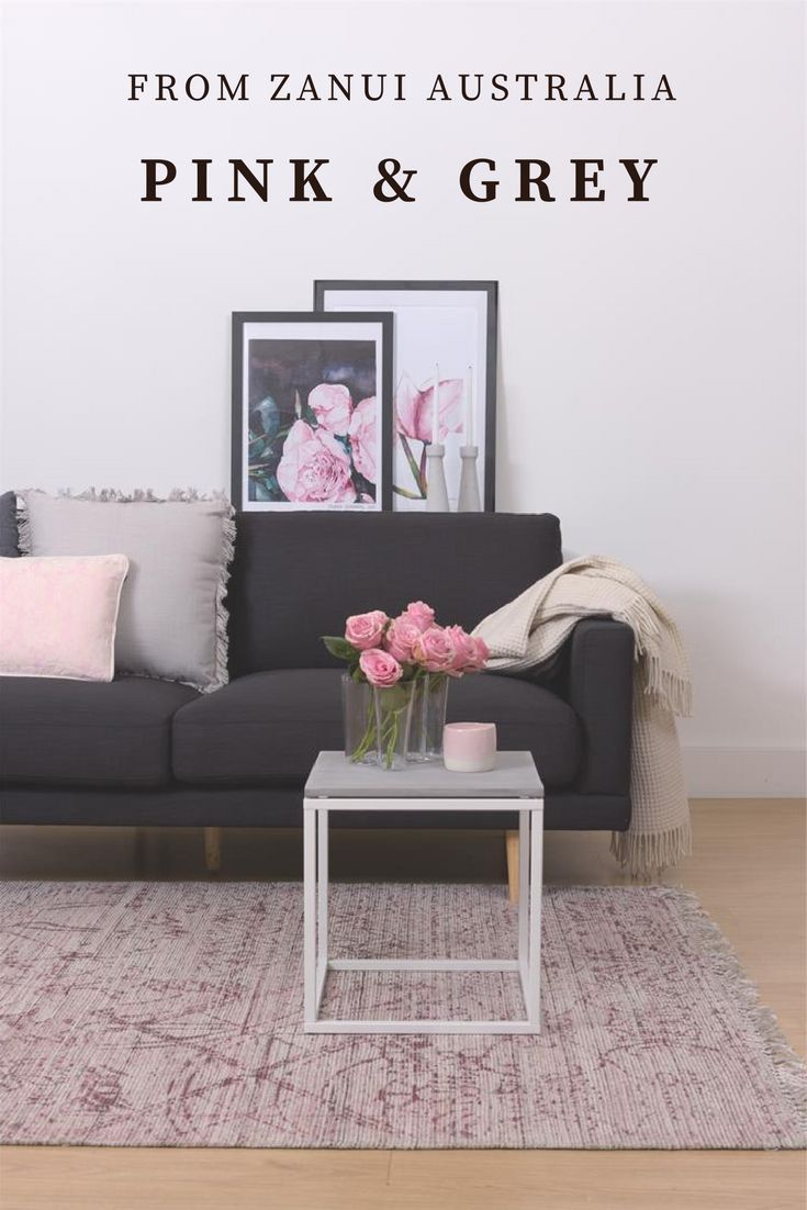Living Room | My Sydney Dream Home | Sydney Moving Guide | Scandinavian style perfect for creating a sense of calm amid the chaos of our busy lives. Scandinavian sofas, chairs, tables and stools. Simple colours and textures. Pink and Grey are very soothing when paired together.