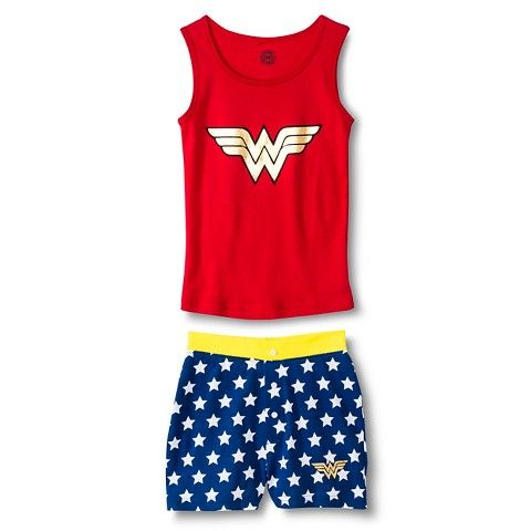 Girls' Justice League Wonder Woman Tank Pajamas