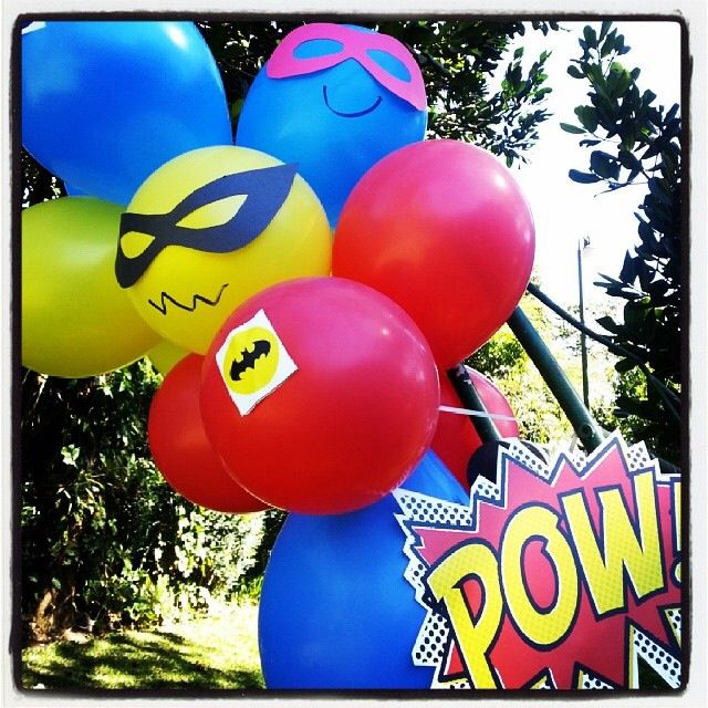 Superhero party decoration