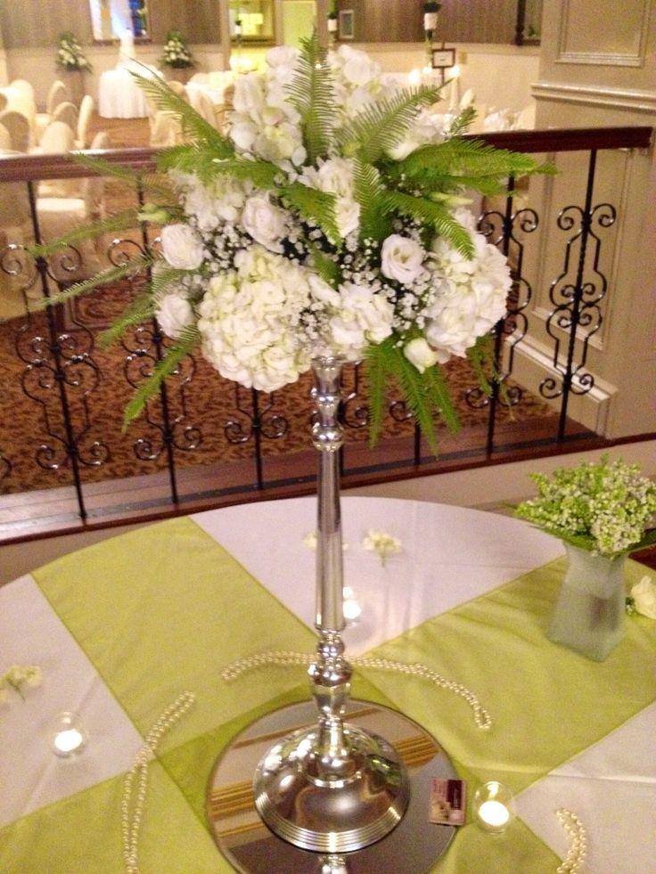 Creams & Greens candelabra