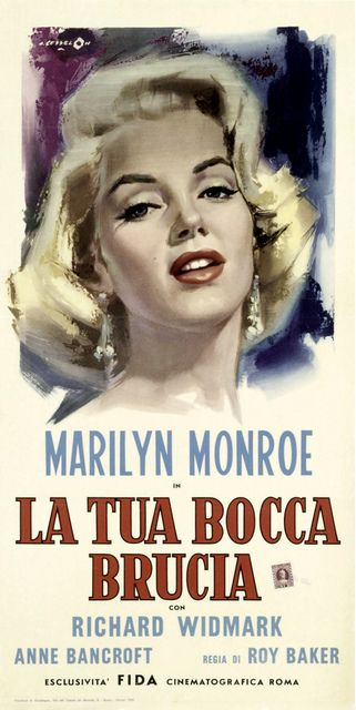 Don't Bother To Knock | Italian movie poster, 1952.