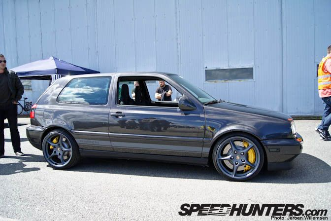 yes, that is correct, it is an all carbon fiber vw golf MKIII!