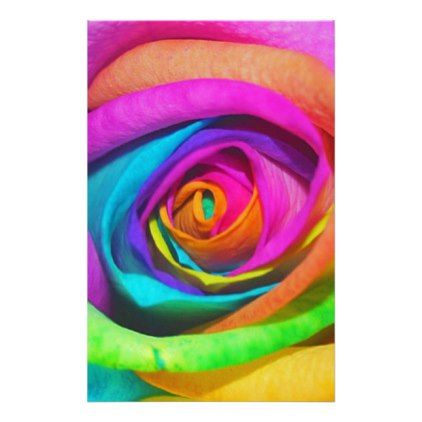 Rainbow Rose Stationery - photography gifts diy custom unique special