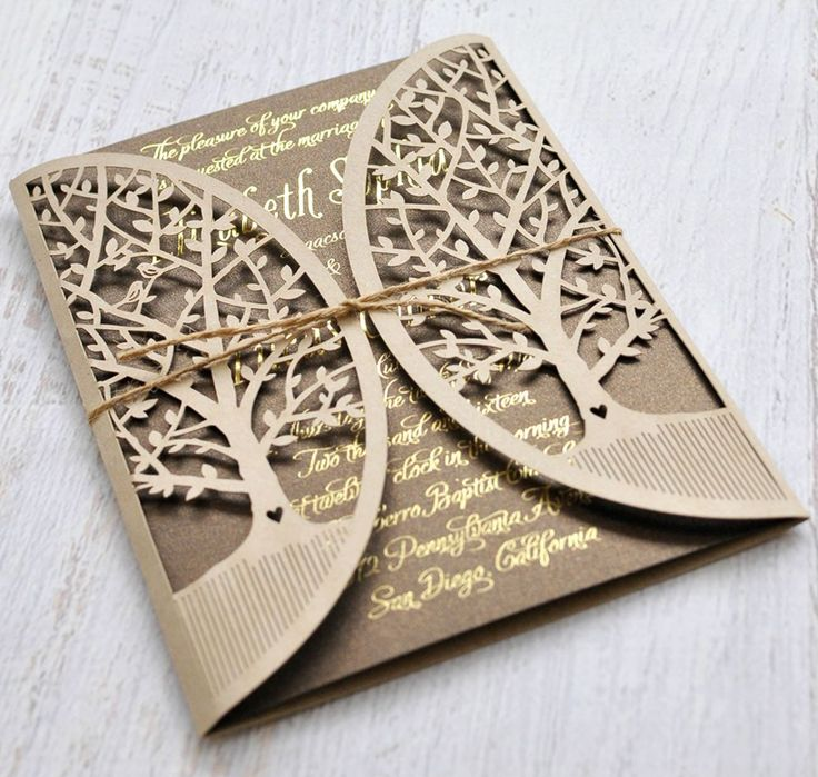 This Perfectly Themed Wedding Invitation For Your Rustic Style Is Priced At 340 On 4