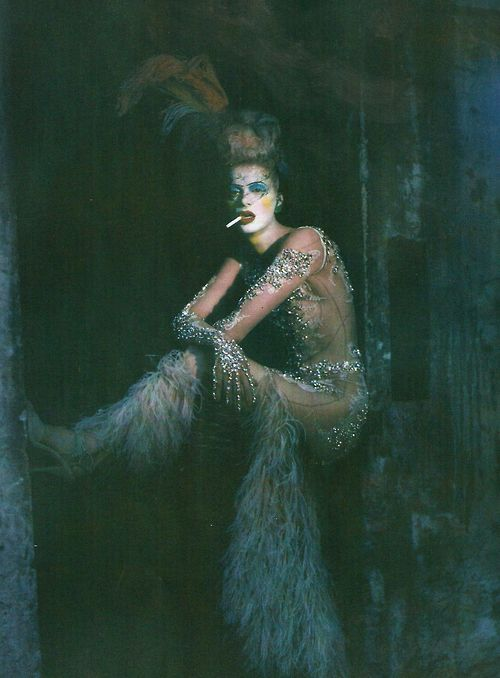 Kristen McMenamy wears Givenchy in 'The Grand Couture' by Paolo Roversi for Vogue Italia, September 2010.