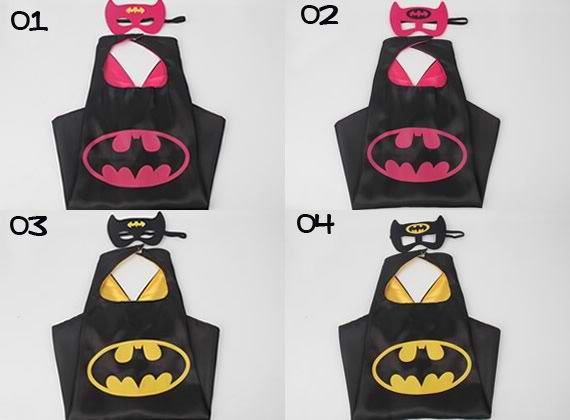 Batman Cape And Mask, Batman Cape, Batman Mask, Batman Birthday Party, Batman Party Favors ( 1 ) USD $7.37+