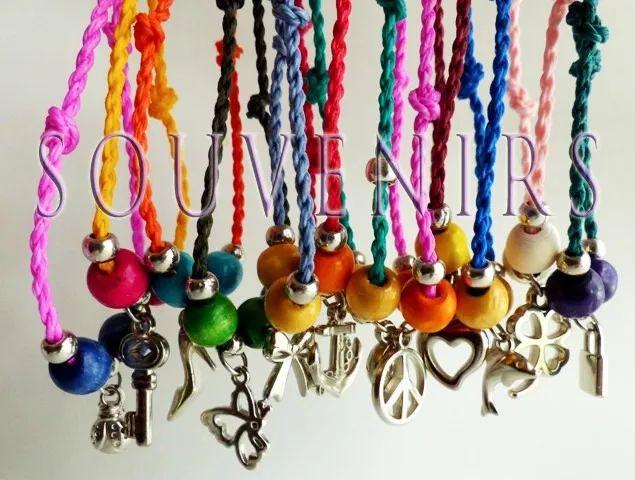 10 pulseras dije 15 años ceremonia de cintas boda souvenirs