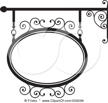 OVAL WROUGHT IRON STOREFRONT SIGN