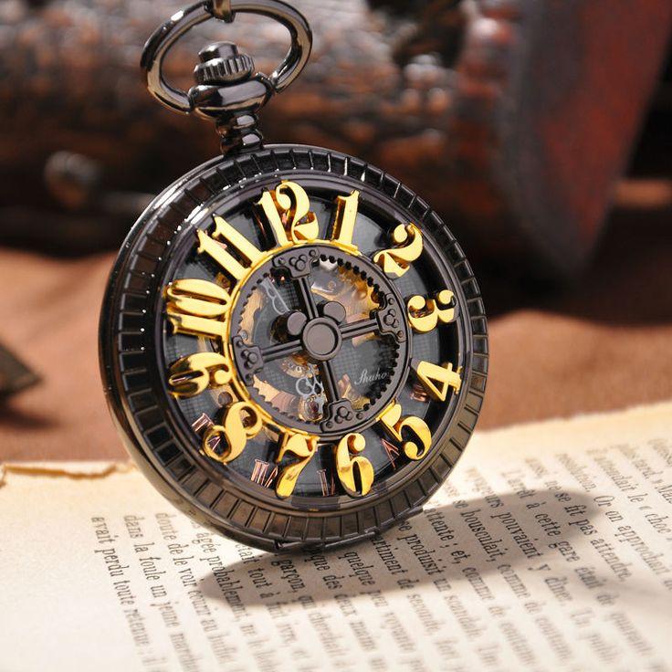 2014 nouvelle marque de luxe montre de poche mécanique squelette montres vintage hommes montre de poche avec dans  de  sur Aliexpress.com