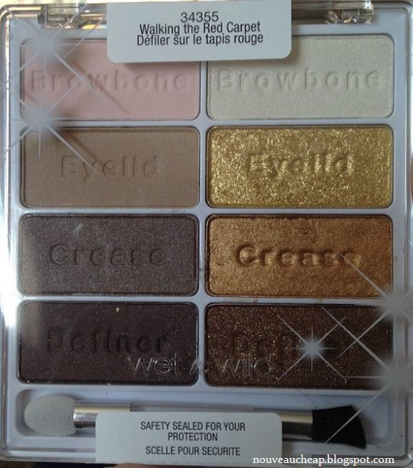 Wet n Wild Limited Edition Spring 2014 8-Pan Eyeshadow Palette in Walking The Red Carpet
