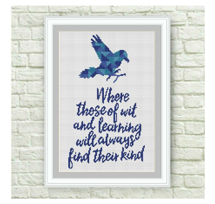 BOGO Free!Ravenclaw Cross Stitch Pattern, Hogwarts Cross Stitch Chart, Harry Potter, TV Show Counted Cross Stitch,PDF Instant Download,S102 by ElCrossStitch on Etsy
