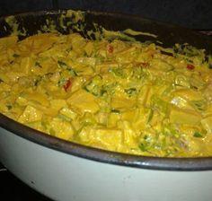 Krämig kasslergryta med curry