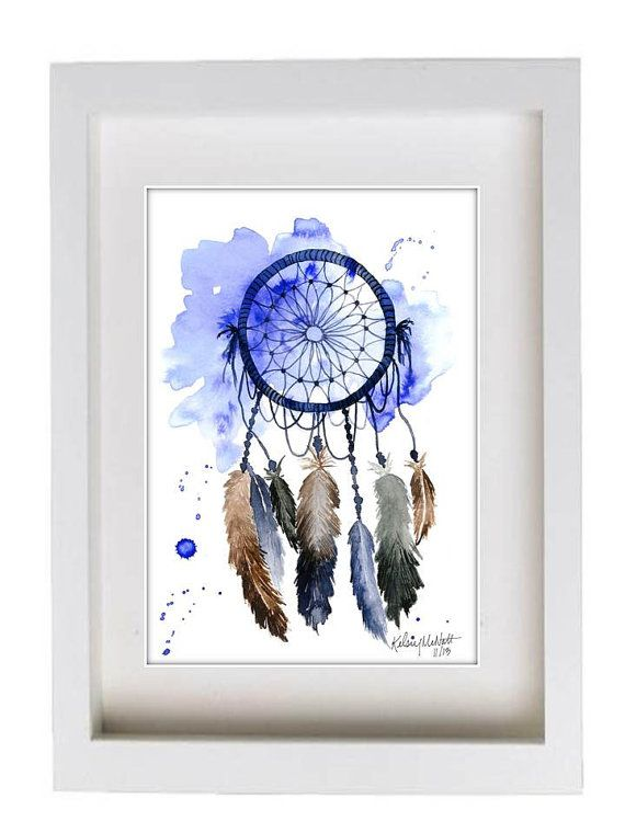 Dream Catcher Print of Original Watercolor by KelseyMDesigns