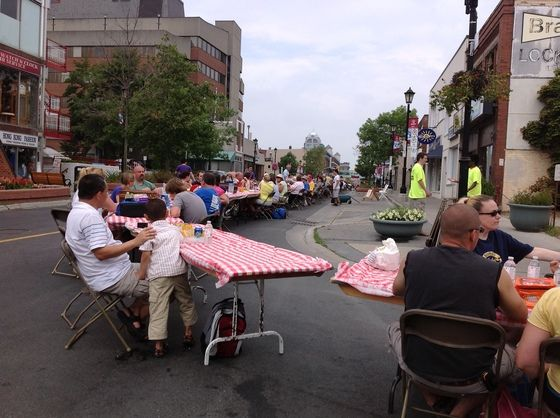 My picture of The World's Longest Picnic on #CBC website #kwawesome