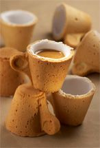 Cookie coffee cups