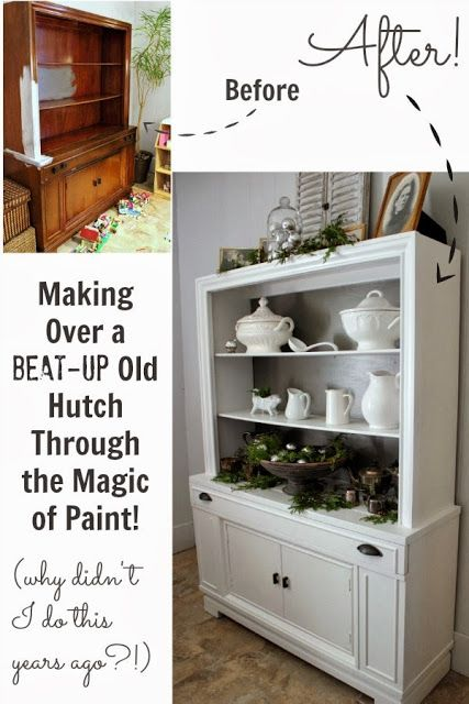 A quick but stunning painted furniture makeover using Farrow and Ball paints.: