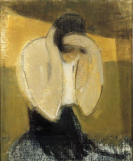 Helene Schjerfbeck (Finish 1862–1946) [Realism, Impressionism, Expressionism, Romanticism] The Gipsy Woman, 1919.