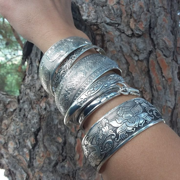 Vintage bracelets, Tibetan Silver ,original boho jewelry by LD. Find me on Etsy to see all the new first.