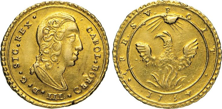 NumisBids: Numismatica Varesi s.a.s. Auction 65, Lot 527 : PALERMO - CARLO DI BORBONE (1734-1759) Oncia d'oro 1734. Sp. 1 ...
