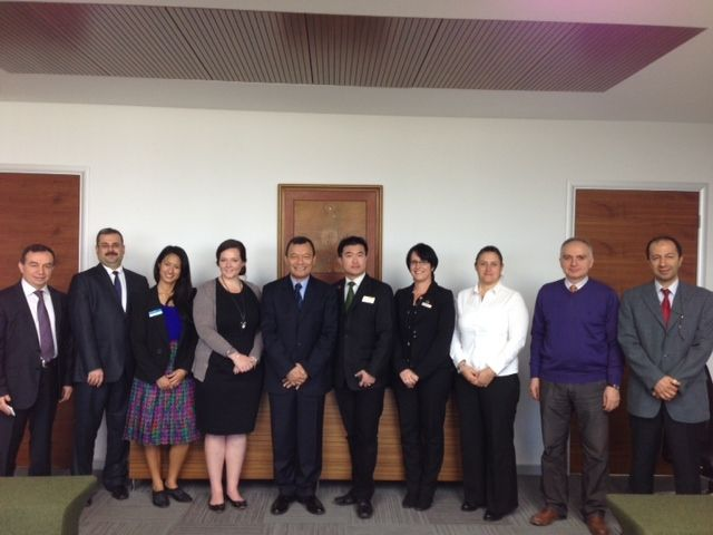 Regional Manager Neville Hiong (6th from left) with officials of Gediz University, Izmir - Study Perth delegation