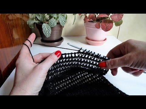 Tunisian Lace Fan Stitch - Free Crochet Pattern - YouTube
