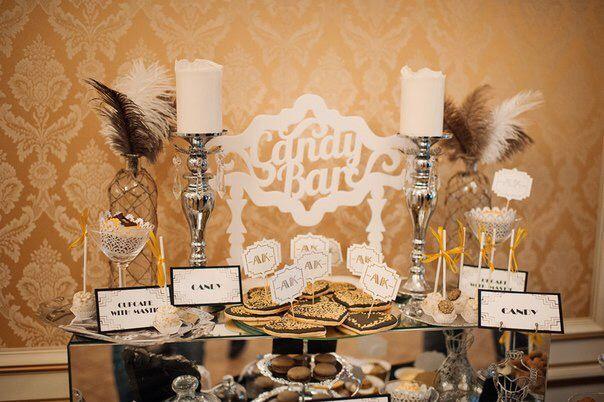 кенди бар, сладкий бар, стиль Гетсби, candy bar, gatsby wedding, gatsby, capcake