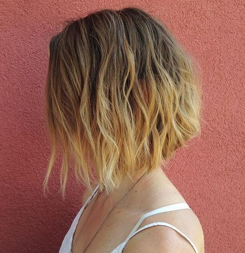 A-line+wavy+bob+with+ombre