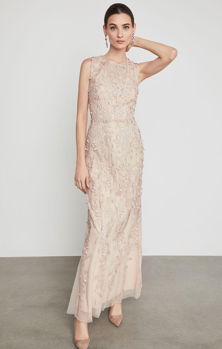 e1a53f062285 Sleeveless Lace Applique Gown | Stylish | Lace applique, Dresses ...