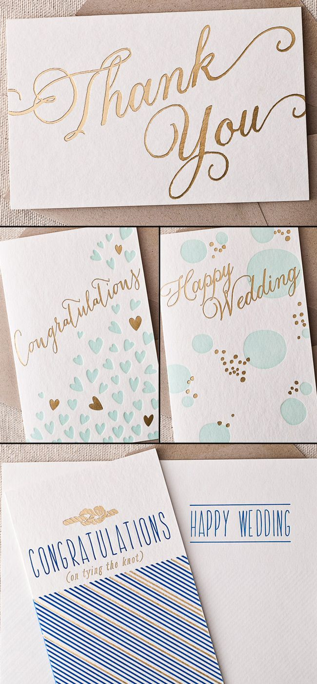 personalized wedding thank you notes%0A New foil stamped   letterpress cards from Smock are perfect for wedding  thank you notes or