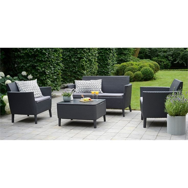 Keter Salemo Lounge Set With Storage Table Maybe Buy Garden Table And Chairs Furniture Garden Sofa