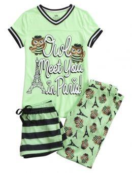 Owl Paris Pajama Set       (Heart Emoji !)