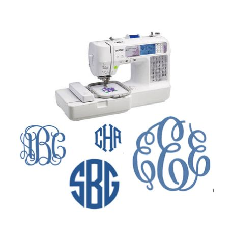 How To Use The Brother SE-400 Sewing Machine For Embroidery/ Monogramming at www.yourelikereallycrafty.com