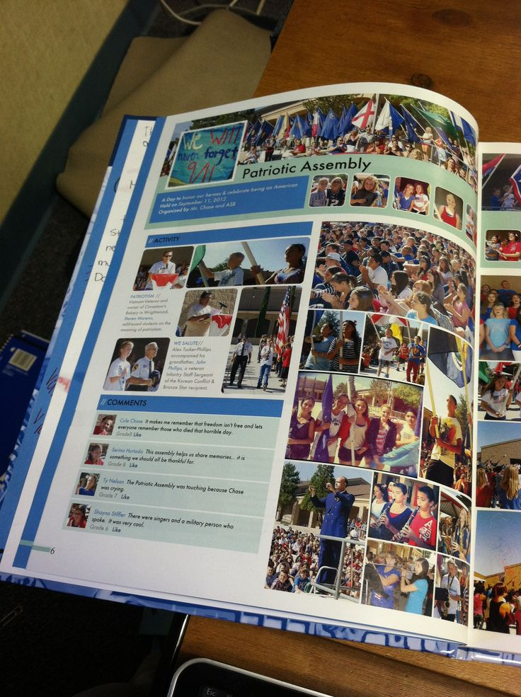 Yearbook Facebook theme... We customized our layouts.