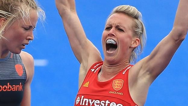 Alex Danson hits 100th goal as England lose shootout to Netherlands http://www.bbc.co.uk/sport/hockey/40241317