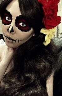 halloween makeup.. AYY Q IMPRESION!!!