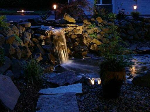 12 best Pond Lighting images on Pinterest Backyard ponds Garden