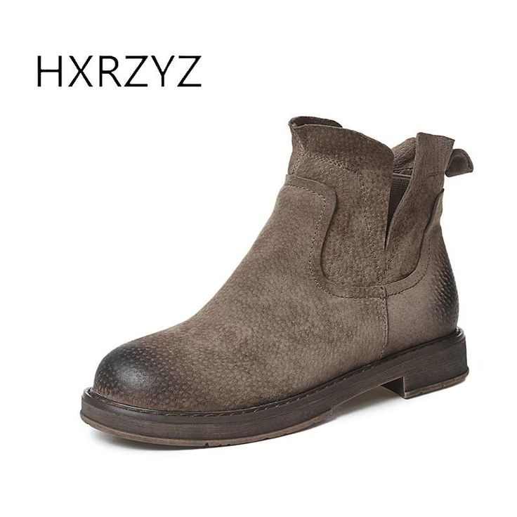 spring/autumn shoes women new fashion womens winter boots female rubber boots for women Chelsea ankle boots of genuine leather #Affiliate