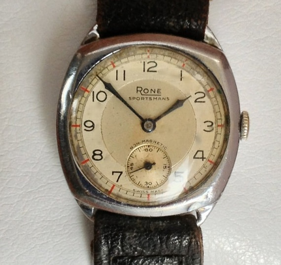 Art Deco Swiss Watch  Rone Sportsmans Watch by OldChestnutCottage, £130.00