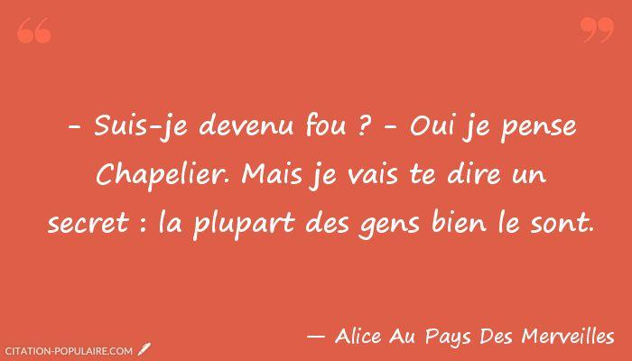 Citation Alice Au Pays Des Merveilles